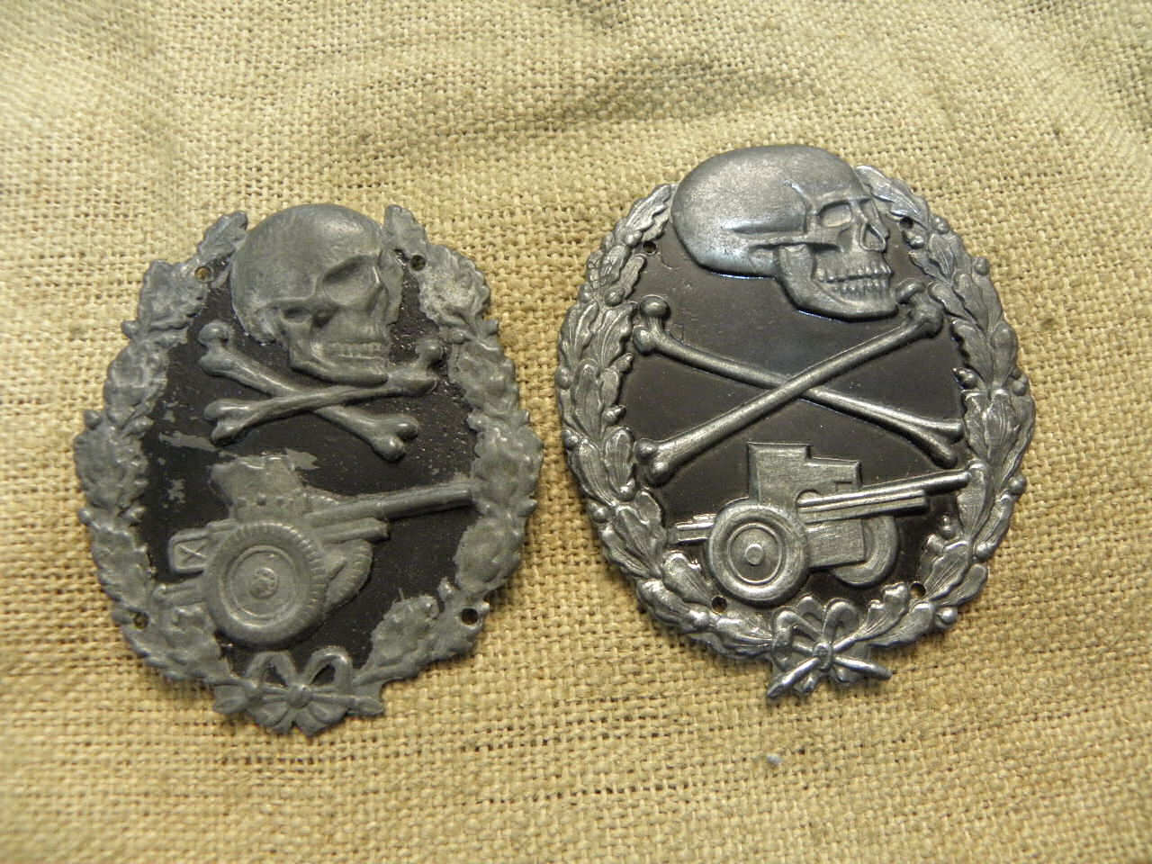Distintivos militares metálicos