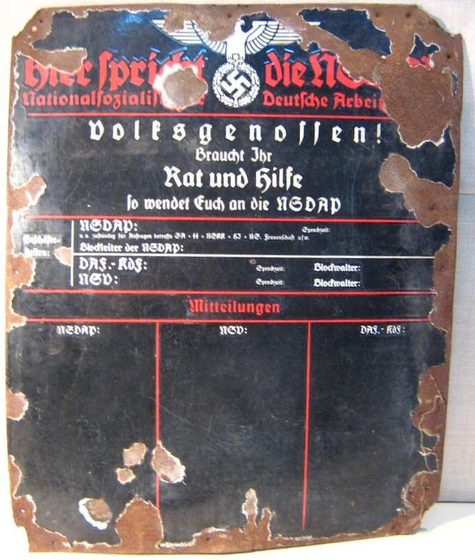 PLACA PIZARRA NSDAP-6