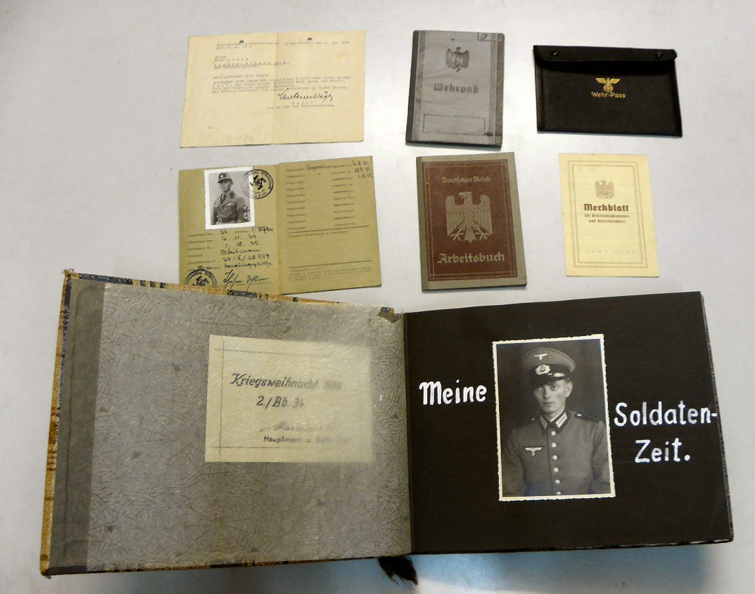 ALBUM FOTOS WEHRMACHT Y DOCUMENTOS KARL JACOB