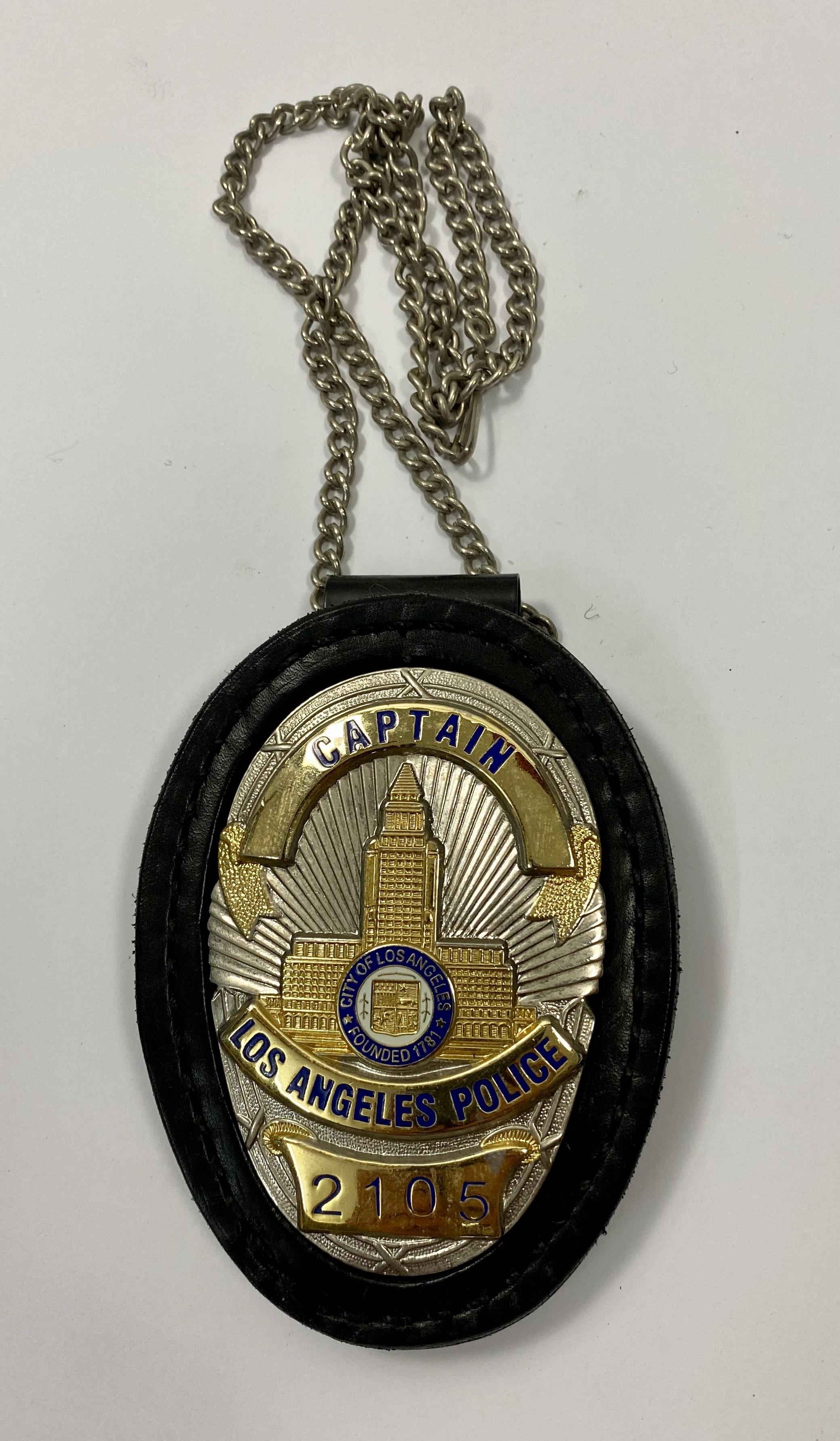 CUELLO-CAPTAIN LOS ANGELES POLICE 2105-POLICE BADGE