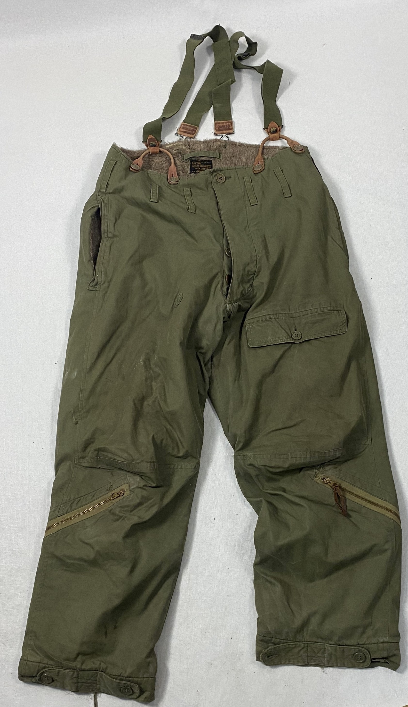 UN-TROUSERS AIR FORCES US ARMY TYPE A-9 COLD WEATHER S-3177 WWII