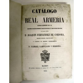 LIBE-CATALOGO REAL ARMERIA DE MADRID 1854