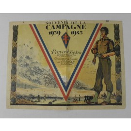 SOUVENIR DE LA CAMPAGNE 1939 1945