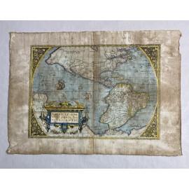 AMERICAE SIVE NOVI, ORBIS NOVA DESCRIPTIO 1580