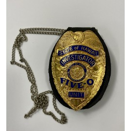 CUELLO-INVESTIGATOR STATE OF HAWAII UNIT FIVE-0 POLICE BADGE