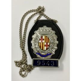 CUELLO-POLICIA GUARDIA URBANA DE BARCELONA NUMERADA 9543-POLICE BADGE