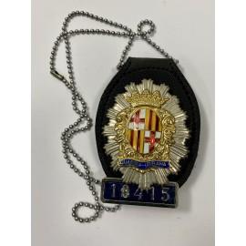 CUELLO-POLICIA OFICIAL GUARDIA URBANA DE BARCELONA NUMERADA 18415-POLICE BADGE