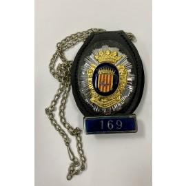 CUELLO-POLICIA OFICIAL POLICIA MUNICIPAL DE CORNELLÀ DEL LLOBREGAT NUMERADA 169-POLICE BADGE