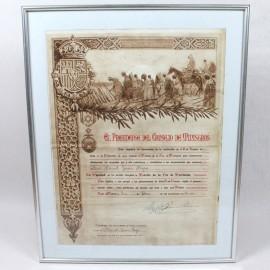 ME-CONCESIÓN PAZ DE MARRUECOS 1929