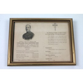 RECORDATORIO FUNERAL ALFONSO XIII