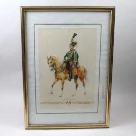 """LAM-OFICIAL DEL REGIMIENTO DE HÚSARES """"FRIMONT"""" IMPERIO AUSTROHÚNGARO (1820)"""