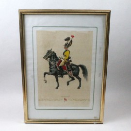 LAM-GARDE DU CORPS A CHEVAL DINAMARCA 1828