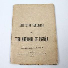 LIBE-ESTATUTOS TIRO NACIONAL 1918