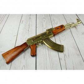 RÉPLICA FUSIL DE ASALTO KALASHNIKOV AK-47 ORO