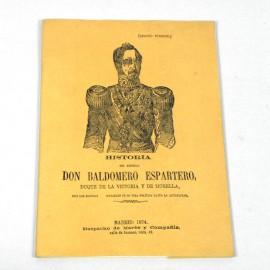 LIBE-HISTORIA DEL GENERAL DON BALDOMERO ESPARTERO